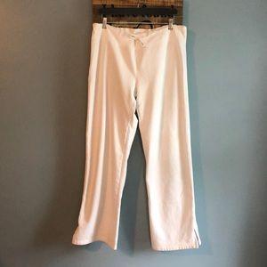 GAP stretch cotton white drawstring sweatpants